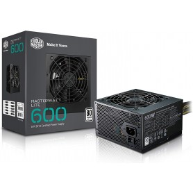 COOLER MASTER 600W MWE BK80+WHITE 1-FAN 120MM PFC-A