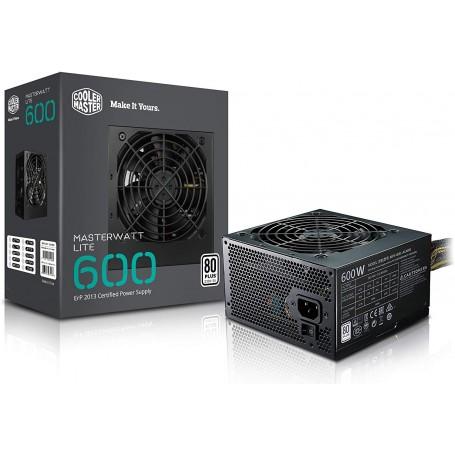 COOLER MASTER 600W MWE BK80+WHITE 1-FAN 120MM PFC-A