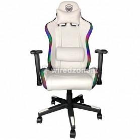 Sedia Gaming Noua Mao M7 White Rgb Rainbow Braccioli 3D e Schienale Inclinabile