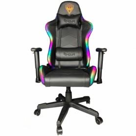 Sedia Gaming Noua Mao M7 Black Rgb Rainbow Braccioli 3D e Schienale Inclinabile