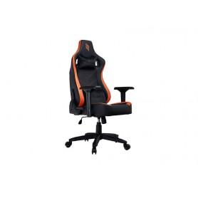 Sedia Gaming Noua Lou L7 in Pelle Black/Orange Braccioli 4D e Schienale Inclinabile